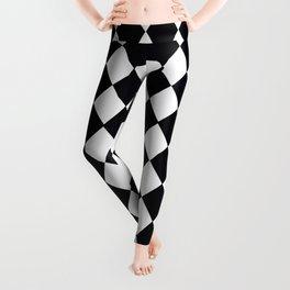 Harlequin Black and White and Gray Leggings