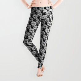 Fight the power / 3D render of raised fists Leggings