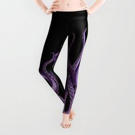 Purple Kraken at Night Leggings