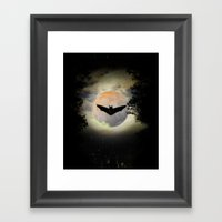 Remainings of a night Framed Art Print