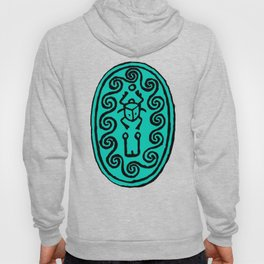 Ancient Egyptian Amulet Turquoise Blue Hoody