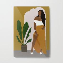 African American Woman Fashion Metal Print