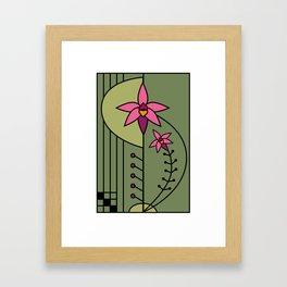 Art Deco Native Orchid Framed Art Print
