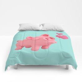Rosa the Pig blow kisses Comforters