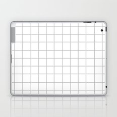Grid (Silver/White) Laptop & iPad Skin