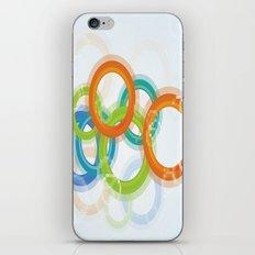 Digital Geometric Circles iPhone & iPod Skin