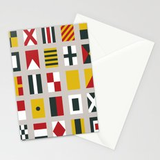 Nautical Flags Stationery Cards