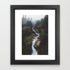 Lava Canyon Framed Art Print