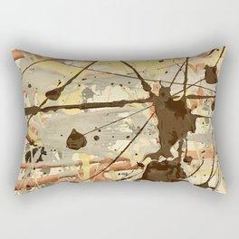 Miniature Original - Brown nuetral Rectangular Pillow