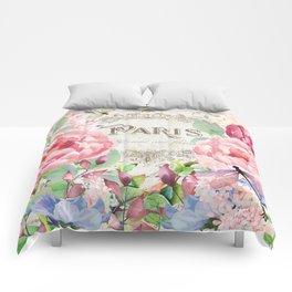 Paris Flower Market III Comforters