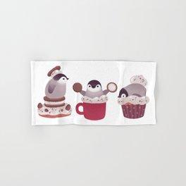 Cookie & cream & penguin Hand & Bath Towel