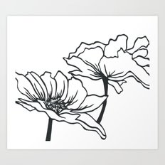 Paper-cut Poppy Art Print