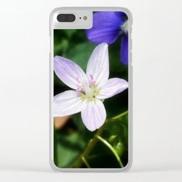 Spring Beauty 11 Clear iPhone Case