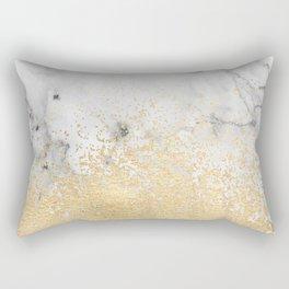 Gold Dust on Marble Rectangular Pillow