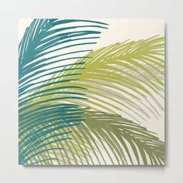Palm Silhouette Series - Hawaiian Greenery Palette Metal Print