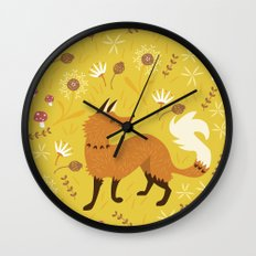 Cute as a Fox Wall Clock