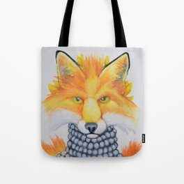 Fox Fur and Pearls Tote Bag