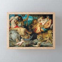 The Four Rivers of Paradise, Rubens, 1615 Framed Mini Art Print