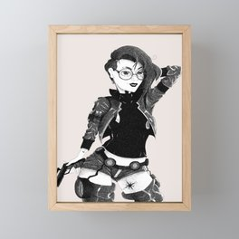 Future Vision Pen and Ink Framed Mini Art Print