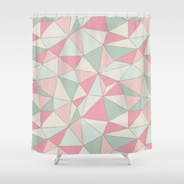 Wonky Triangles Shower Curtain