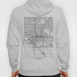 Fresno Map White Hoody