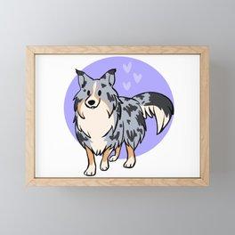Blue Merle Shetland Sheepdog Framed Mini Art Print
