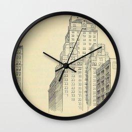 Vintage Skycrapers Wall Clock