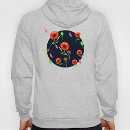 Red Poppies Field Hoody