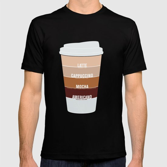 four shades of coffee + ingredients T-shirt