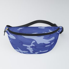 Bright Blue Camo Pattern Fanny Pack