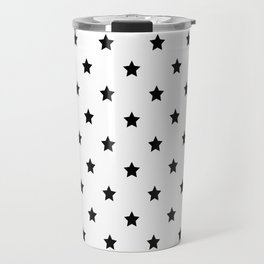 Black and white Star Pattern Travel Mug