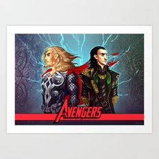 Sons of Odin - Thor & Loki Art Print