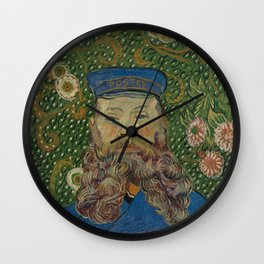 Portrait of Joseph Roulin by Vincent van Gogh Wall Clock