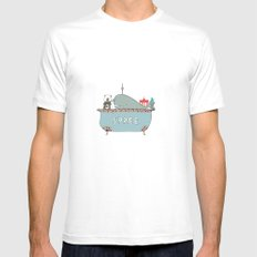 When in Berlin MEDIUM White Mens Fitted Tee