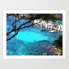Marseille creeks Art Print