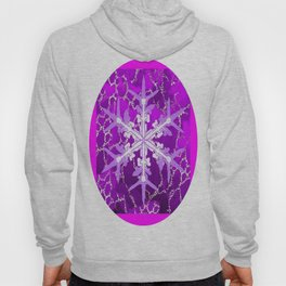 Amethyst Snowflake Abstract for February Babies Hoody