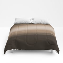 Sepia Brown Ombre Comforters