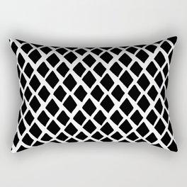 Rhombus Black And White Rectangular Pillow