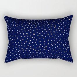 Dotted Gold & Midnight Rectangular Pillow