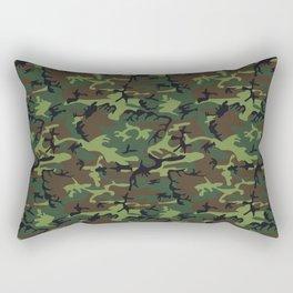 U.S. Woodland Camo Rectangular Pillow