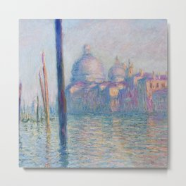 Le Grand Canal by Claude Monet Metal Print