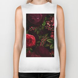 Mystical Night Roses Biker Tank
