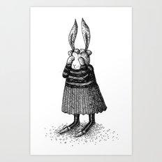 Rabbit - Girl Art Print