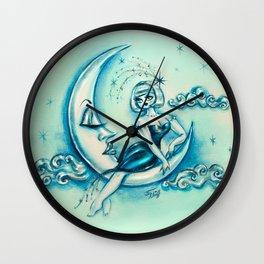 Girl on the Moon Wall Clock