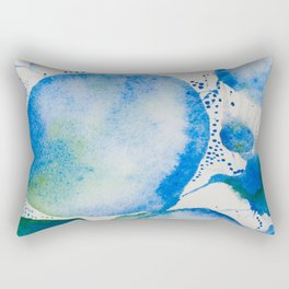 Blue Study Rectangular Pillow