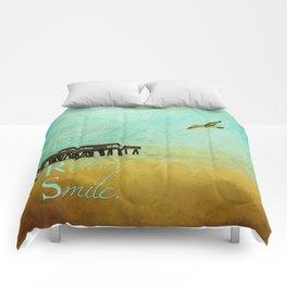 Enjoy Breathe Relax Smile ~ Tybee Island Pier ~ Ginkelmier Inspired Comforters