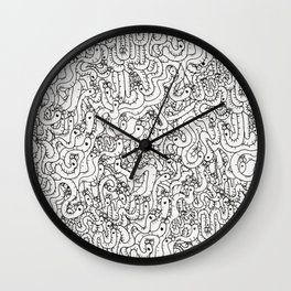 Oodles of Worms Wall Clock