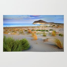 """Genoveses Beach"" Sunset at beach Rug"