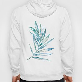Blue Fern Leaf - Ink Painting - Botanical Hoody