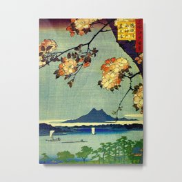Hiroshige, Springtime In Japan, Thinking Of You Metal Print